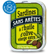 SARDINES HUILE OLIVE SANS ARÊTES
