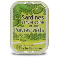 SARDINES HUILE D'OLIVE POIVRES VERT